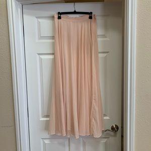 NWT Lucy Paris blush/pink maxi skirt